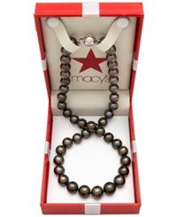 Belle De Mer Cultured Tahitian Pearl 9Mm Strand Necklace In 14K White Gold No Color