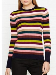 Whistles Striped Knitted Top Multicolour