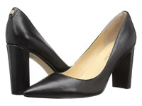 Ivanka Trump Katie Black Leather High Heels