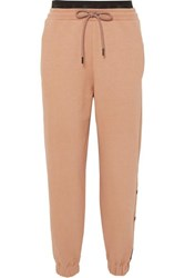 Reebok X Victoria Beckham Embroidered Cotton Jersey Track Pants Blush
