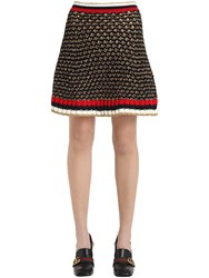 Gucci Heavy Cotton And Lurex Blend Knit Skirt