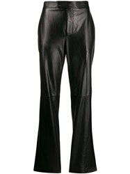 Helmut Lang Straight Leg Leather Trousers 60