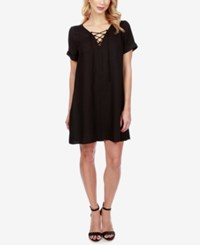 Lucky Brand Lace Up Swing Dress Lucky Black
