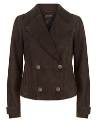 Jaeger Suede Jacket Brown