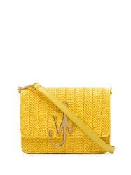J.W.Anderson Jw Anderson Yellow Logo Plaque Woven