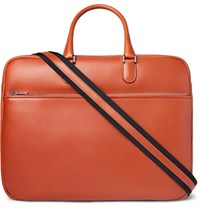 Valextra Soft Avietta Pilotina Leather Briefcase Red