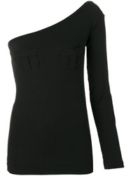 Romeo Gigli Vintage Single Sleeve Fitted Blouse Black