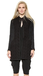 Zero Maria Cornejo Block Lace Frock Coat Black