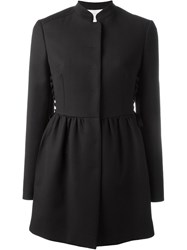 Red Valentino Laced Back Flared Coat Black