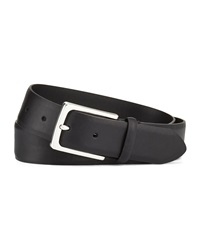 John Varvatos Leather Belt W Harness Feather Buckle Black