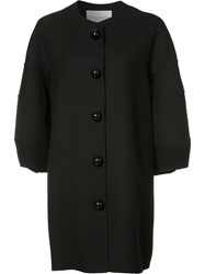 Carolina Herrera Buttoned Oversized Coat Black