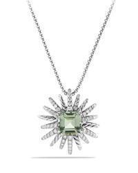 23Mm Prasiolite Starburst Pendant Necklace David Yurman Silver