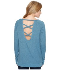 Cinch French Terry Sweatshirt Teal Women's Sweatshirt Blue