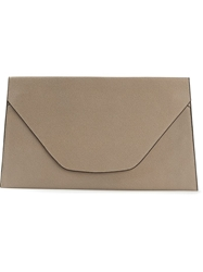 Valextra Envelope Clutch Bag Brown