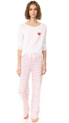 Only Hearts Club Heritage Pj Set White Rosehip