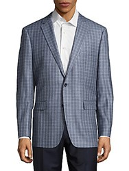 Dolce And Gabbana Classic Fit Gingham Sportcoat Light Blue