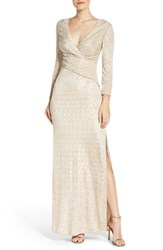 Laundry By Shelli Segal Women's Metallic Gown