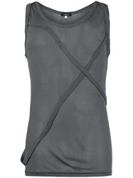 Unconditional Cross Strap Tank Top Grey