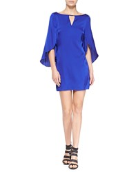 Milly Butterfly Sleeve Keyhole Neck Dress Cobalt Blue