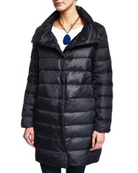Eileen Fisher Puffer Cocoon Coat Black