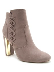 Qupid Panel Ankle Boot Taupe