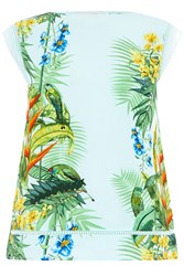 Oasis Tropical Placement Tee Blue