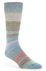 Lorenzo Uomo Multistripe Crew Socks Denim