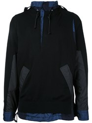 Sacai Knitted Cagoule Sweater Black