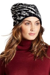 Natasha Accessories Metallic Animal Knit Beanie Black