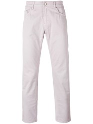 Pt01 Classic Chino Trousers Men Cotton Spandex Elastane 32 Pink Purple