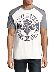 Affliction Sport Usa Colorblock Tee White Heather Grey