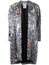 Theatre Products Multiple Prints Flared Coat Black