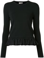 Nina Ricci Ruffled Hem Jumper Black