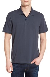 Men's Victorinox Swiss Army 'Vx Stretch' Tailored Fit Pique Polo Deep Lake