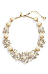 Women's Kate Spade New York 'Bouquet' Faux Pearl Statement Necklace