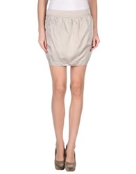 Lupattelli Mini Skirts Dove Grey