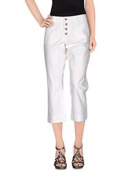 Ralph Lauren Denim Capris White