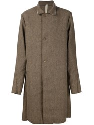 A Diciannoveventitre Single Breasted Coat Brown