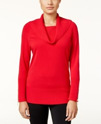 Thalia Sodi Cowl Neck Sweater Only At Macy's Lipstick Red