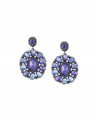 Bavna Tanzanite And Diamond Statement Drop Earrings