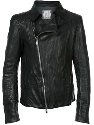 Guidi Biker Jacket Horse Leather Black