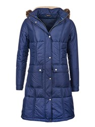 Barbour Icefield Quilted Coat Royal Navy