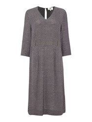 Noa Noa 3 4 Sleeve Dress Grey