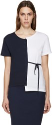 Jacquemus Navy And White Deconstructed T Shirt