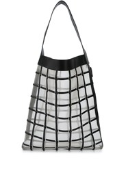 3.1 Phillip Lim Billie Large Twisted Cage Tote Black