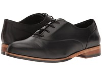 Wolverine Jude Oxford Black Leather Women's Lace Up Casual Shoes