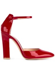 Gianvito Rossi Ankle Strap Pumps Red