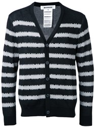 Anrealage Striped Cardigan Black