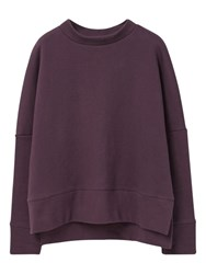 Mango Cotton Sweatshirt Dark Purple