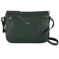 Tula Alpine Originals Leather Small Across Body Bag Green